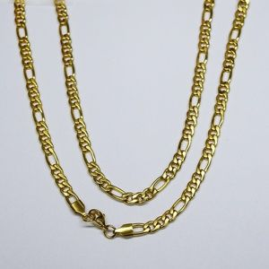 "Dubai chain 18kt gold Plated 24"" 5mm w/Secure Lock"